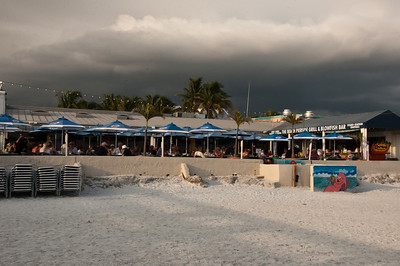 Black thunderheads gather over Ft Myers Beach