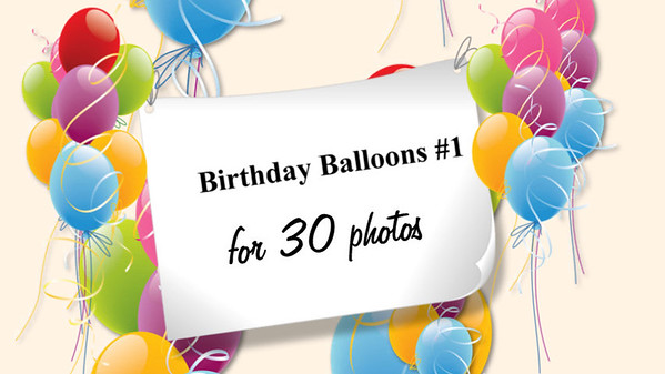 Happy Birthday Balloons #1