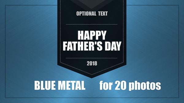 Blue Metal Video Template