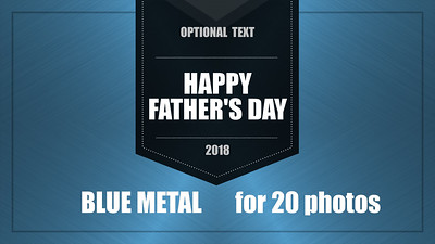Blue Metal Video Template