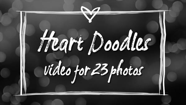 Heart Doodles for 23 photos