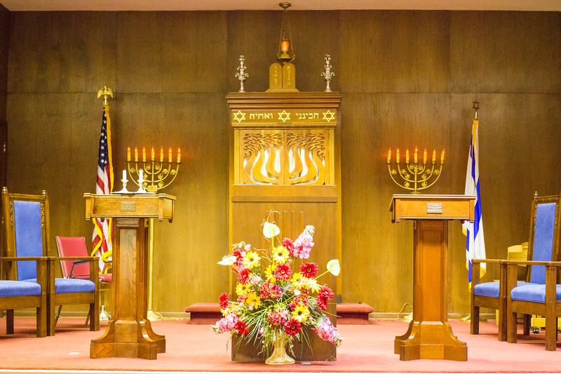 Beautiful sanctuary at Temple B'nai Israel, Florence, AL