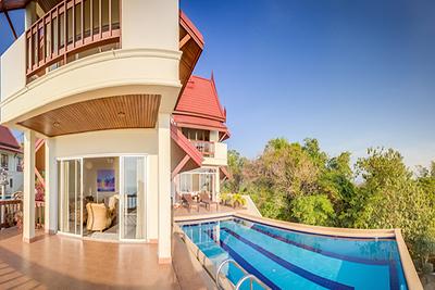 Six bedroom Temple House Villa private swimming pool, Kantiang Bay, Ko Lanta