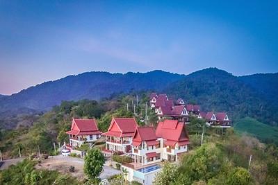 Six bedroom Temple House Villa Aerial photo, Kantiang Bay, Ko Lanta