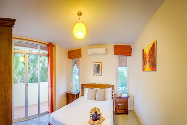 Temple House Villa Double bedroom with jungle views