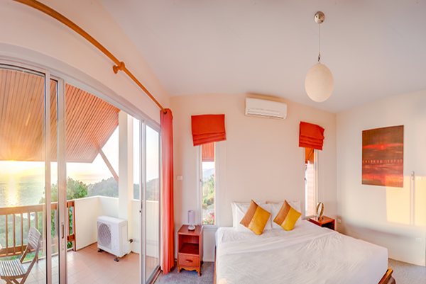 Temple House Villa Double bedroom with private terrace