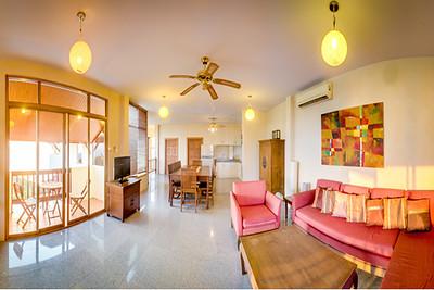 Six bedroom Temple House Villa Open plan living area, Kantiang Bay, Ko Lanta