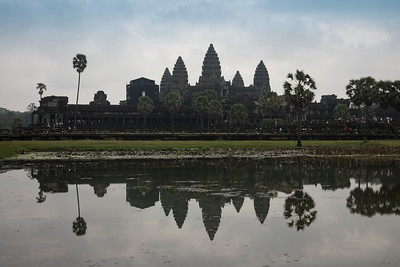 Reflection of Angkor Wat Temple in Cambodia
