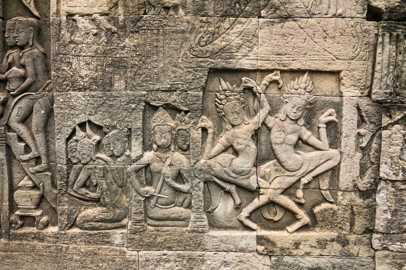 Musicians and Dancing Ladies at Angkor Thom
