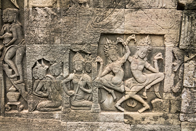 Musicians and Dancing Ladies at Angkor Thom