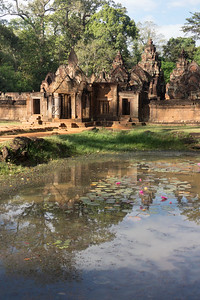 Reflection of Banteay Srei in the Water Lilly Pond