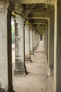 Long corridor of Angkor Wat