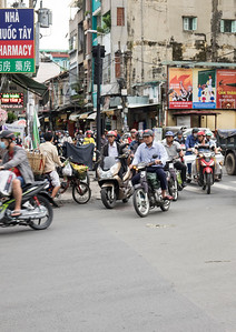 Motorcycle and scooter urban traffic