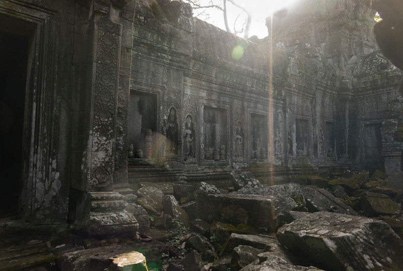 Ray of Light at Ta Prohm Temple