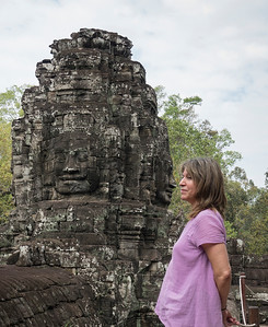Nose to nose at Angkor Thom