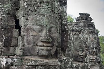 Angkor Thom faces