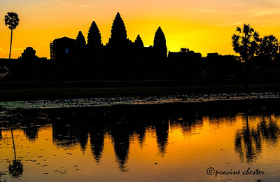 Angkor at sunrise