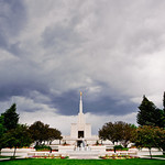 Denver Colorado LDS Temple - Cloudy summer day