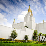 Oakland California LDS Temple - Summer day