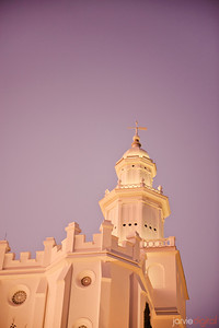St George Utah LDS Temple - Evening twilight