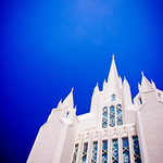 San Diego LDS Temple - Clear summer day