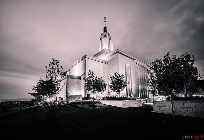 Draper Utah LDS Temple - Early morning Twilight