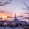 Reno LDS Temple at Sunrise