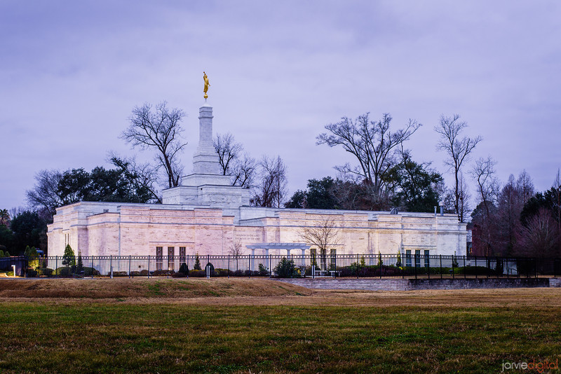 Baton Rouge Temple Blue Morning