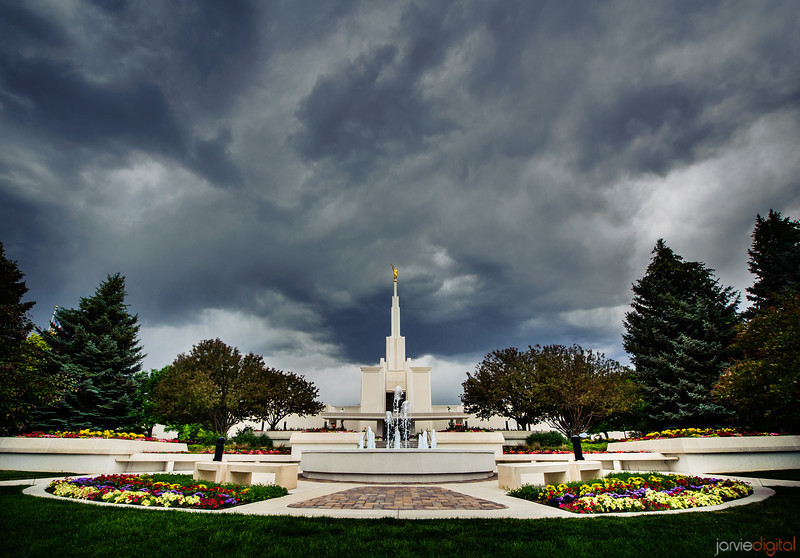 Denver Colorado LDS Temple - Cloudy summer day
