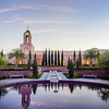 Newport Beach Temple and reflection
