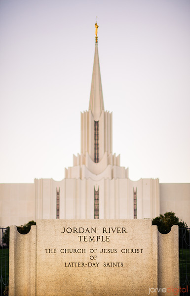 Jordan River LDS Temple - Early Morning Twilight