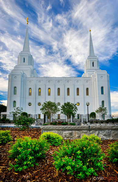 Brigham City Temple and landscaping