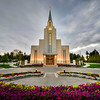 Vancouver LDS Temple at Sunset