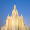 San Diego temple at sunrise