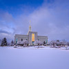 Snow at Timpanogos Temple