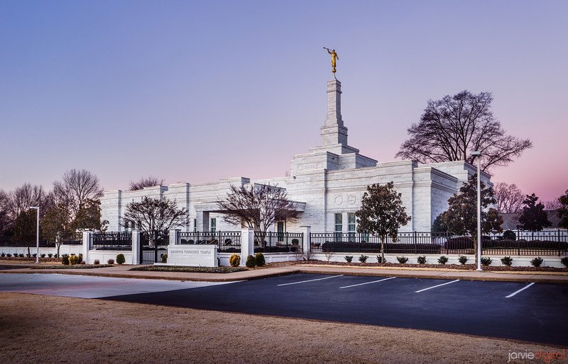 Memphis Temple Sunrise - Corner