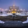 Calgary Temple on a Foggy morning
