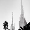 Las Vegas LDS Temple B&W