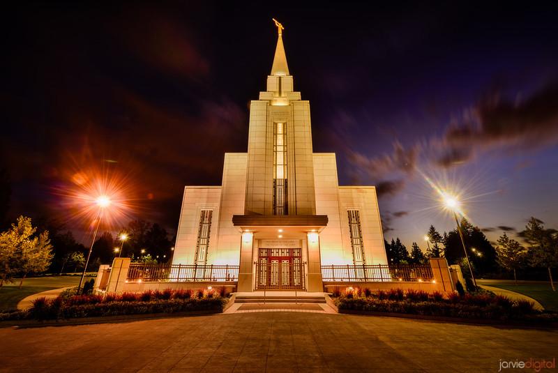 Vancouver LDS Temple Twilight