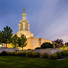 Columbia River LDS Temple at sunset