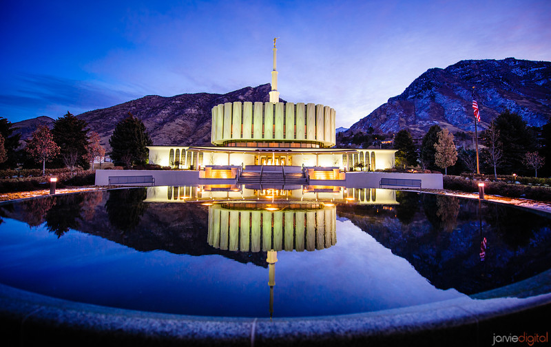 Provo Temple Early Morning in January