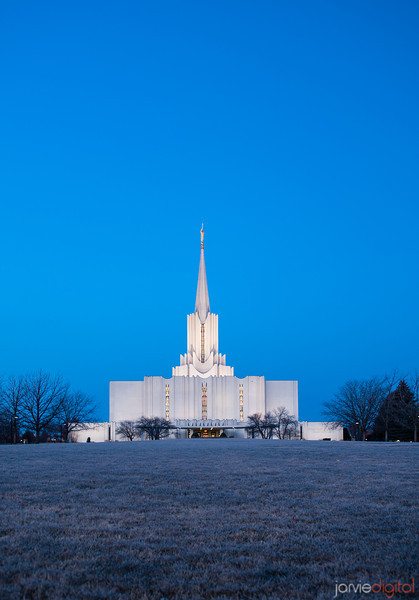 Jordan River LDS Temple at Winter