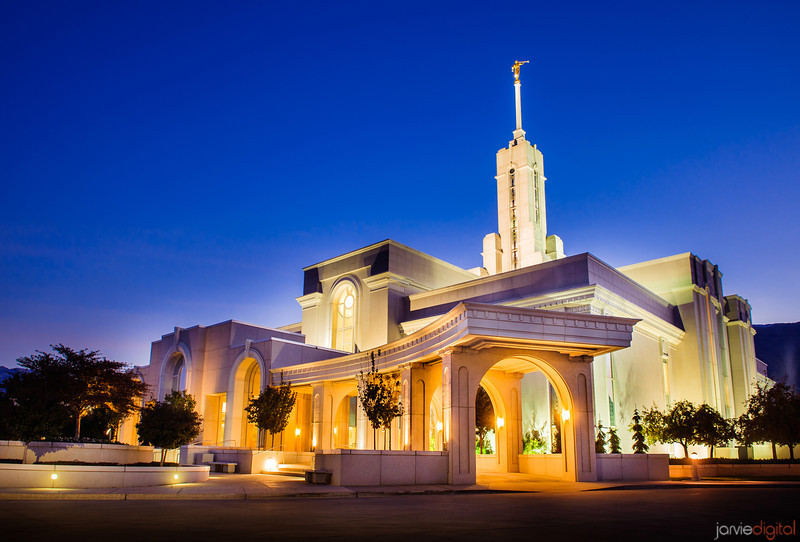 Mt Timpanogos LDS Temple - Early morning Twilight