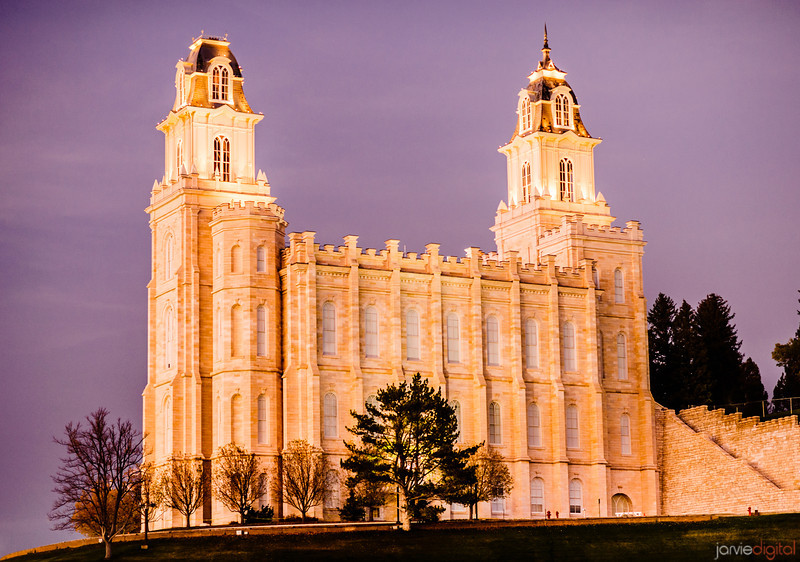 Manti Utah LDS Temple - Evening Twilight