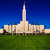 Los Angeles LDS Temple - Clear december day