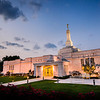 Columbus Ohio LDS Temple - Just after sunset