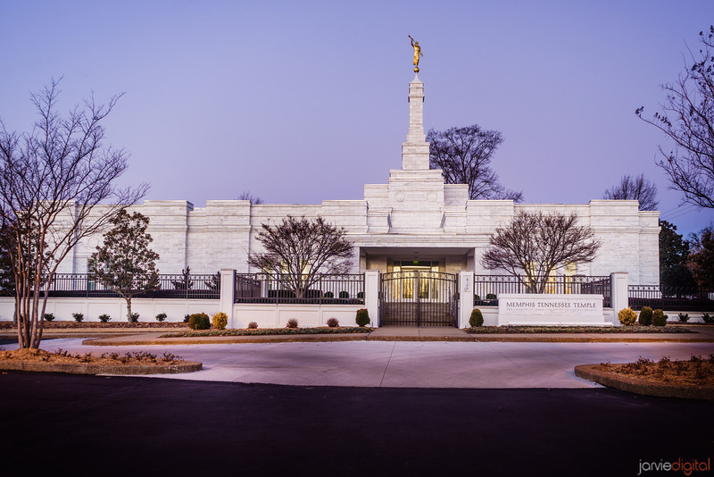 Memphis Temple Through Trees