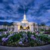 Twilight on a spring day at Mt. Timpanogos LDS Temple