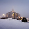 Calgary Temple on a Foggy morning