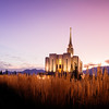 Oquirrh Mountain LDS Temple - Early morning twilight